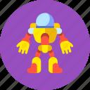 astronaut, cosmonaut, exoskeleton, man, robot, space icon
