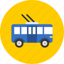 bus, transport, trolley icon