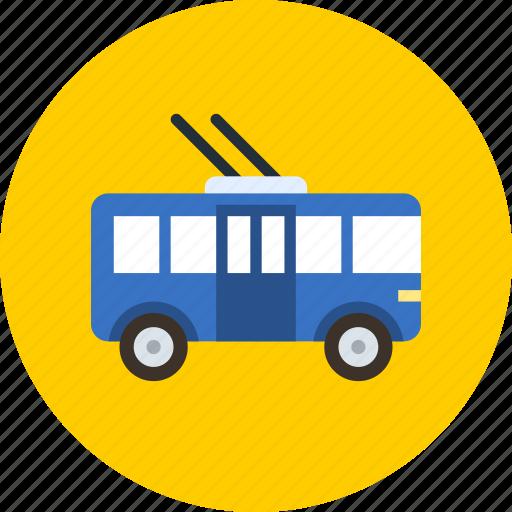 bus, transport, trolley icon