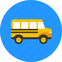 autobus, bus, school, transport, vehicle icon