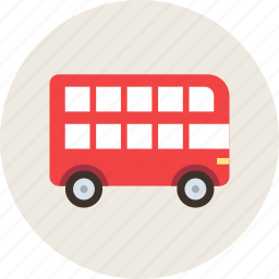 decker, double, london, transport, vehicle icon