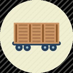 railroad, train, vehicle, wagon icon