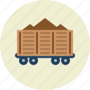 cargo, freight, railroad, train, vehicle, wagon icon