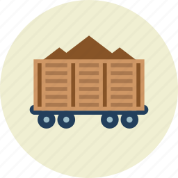 freight, railroad, wagon icon