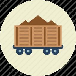 cargo, freight, railroad, train, vehicle, wagon icon