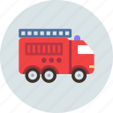 car, fire, firefighter, transport, truck icon