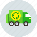 car, garbage, recycling, transport, truck icon