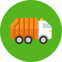 garbage, transport, truck icon