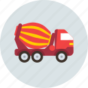 car, concrete, mixer, transport, truck icon