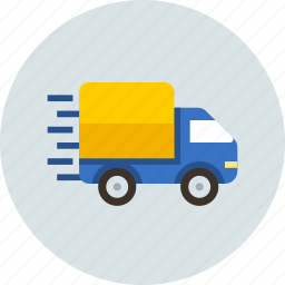 car, cargo, delivery, logistic, speed, transport icon