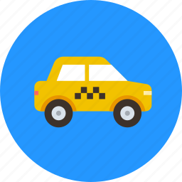 car, taxi, taxicab, transport icon