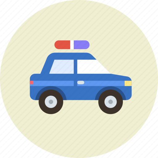 aid, automobile, car, police, transport, vehicle icon