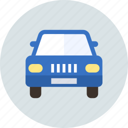 automobile, car, front, parking, sign, transport icon
