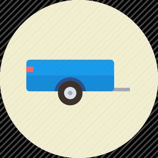 cargo, farmer, trailer, transport, vehicle icon