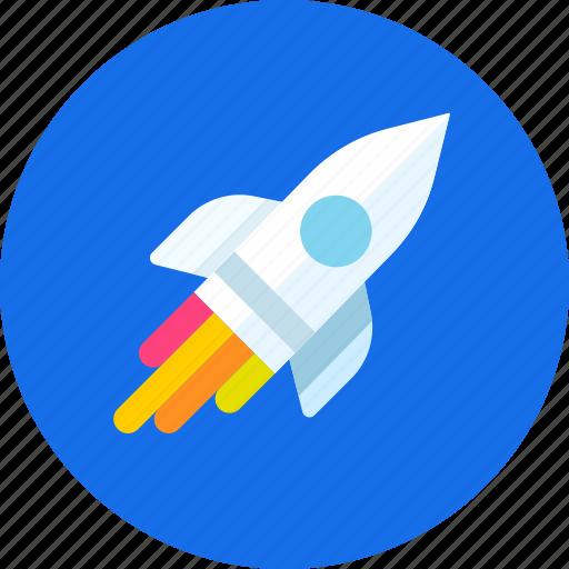 game, icojam, missile, rocket, space, start, startup icon