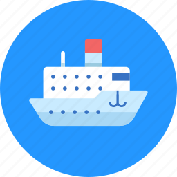 cruise, liner, ship, steamship, titanic icon