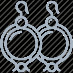 ear, earrings, jewellery, pearl, ring icon