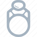 diamond, gem, jewellery, ring, rings icon