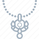 jewellery, necklace, pearl icon