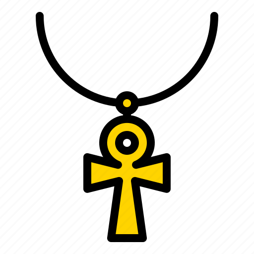 accessory, ankh, cross, egypt, key, necklace, pendant icon
