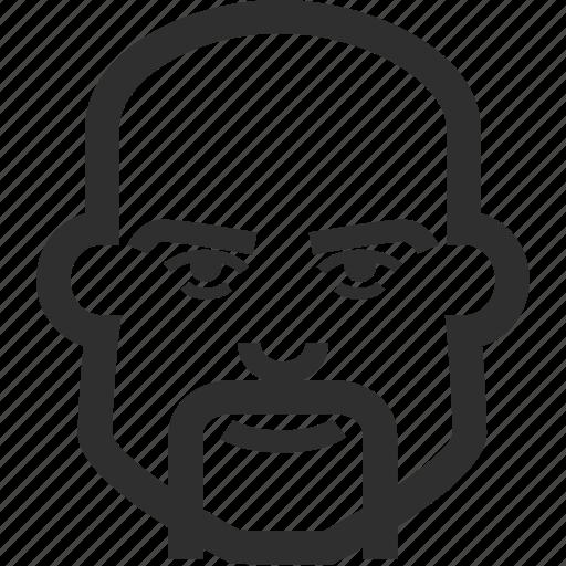 avatar, boy, face, male, man, mustache icon