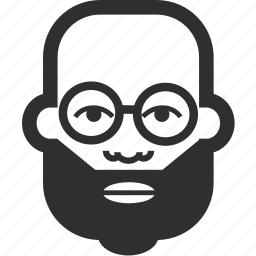 avatar, beard, boy, face, glases, male, man icon