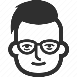 avatar, boy, face, glasses, male, man icon