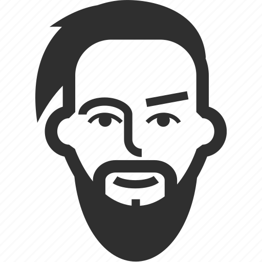 avatar, beard, boy, face, hipster, male, man icon