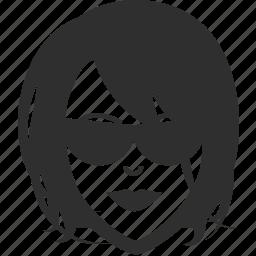 avatar, face, female, girl, sunglasses, woman icon