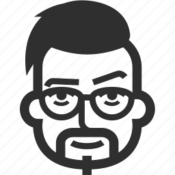 avatar, boy, face, glases, goatee, male, man, mustache icon