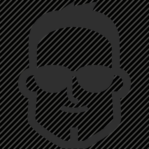avatar, boy, face, male, man, sunglasses icon