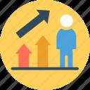 business achievement, financial achievement, investor success, successful businessman, successful investor icon