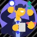 promotion, people, multitasking, recruitment, job, finance, business icon