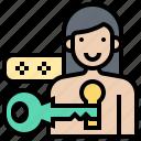 account, key, login, register, user