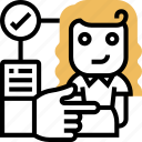 service, agency, job, headhunter, selection icon