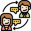 communication, chat, job, engagement, rotation
