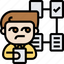 screening, check, select, job, process icon