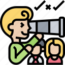 telescope, searching, recruiter, people, finding icon