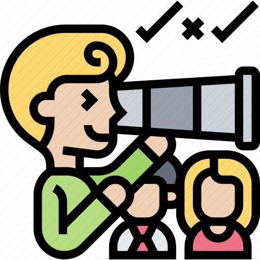 Telescope, searching, recruiter, people, finding icon - Download on Iconfinder