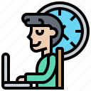 busy, hour, office, overtime, working icon
