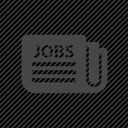 job, news, newspaper icon