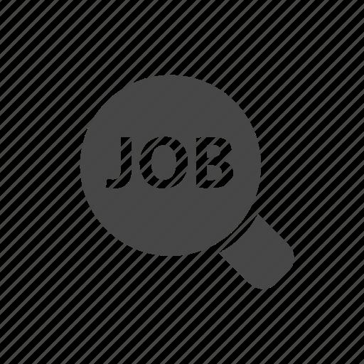 job, job search, magnifier glass, search icon