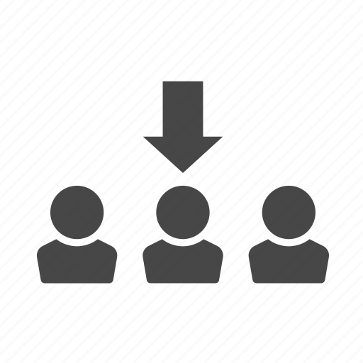 arrow, click, job, people icon