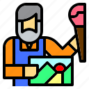 art, artist, creative, creativity, job, occupation, paint icon