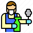 clean, cleaner, cleaning, jobs, occupation, people, service icon