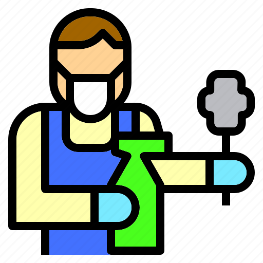 Clean, cleaner, cleaning, jobs, occupation, people, service icon - Download on Iconfinder