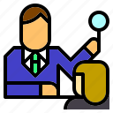 boss, human, interview, job, meeting, occupation, resources icon