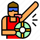 guard, life, lifeguard, occupation, pool, summertime, swimming icon