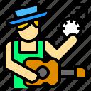 artist, guitar, job, man, music, musician, occupation icon