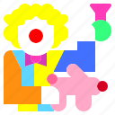 carnival, circus, clown, comedian, costume, entertainer, jobs icon